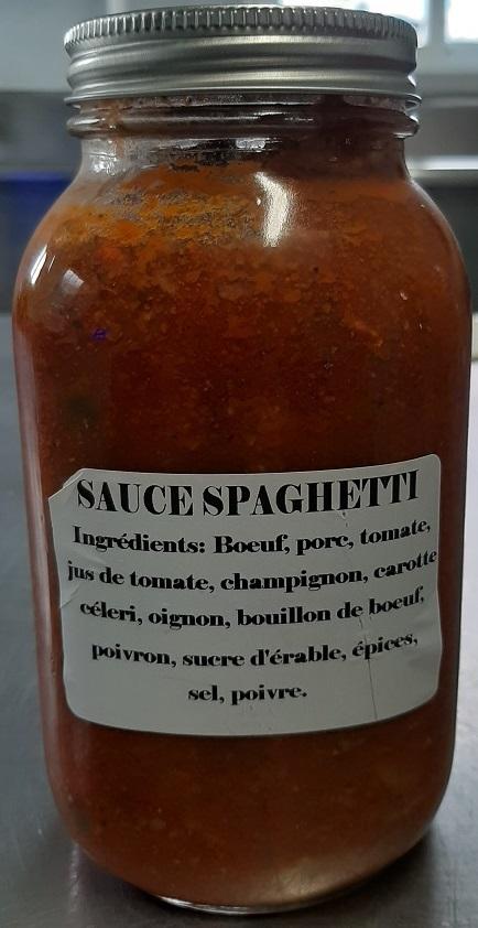"Érablière Godbout– ""Sauce spaghetti"" (ingredients)"
