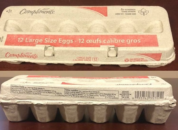 Compliments – Large Size Eggs (12 eggs)