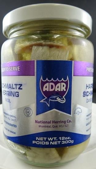 Adar - Schmaltz Herring in Oil - side
