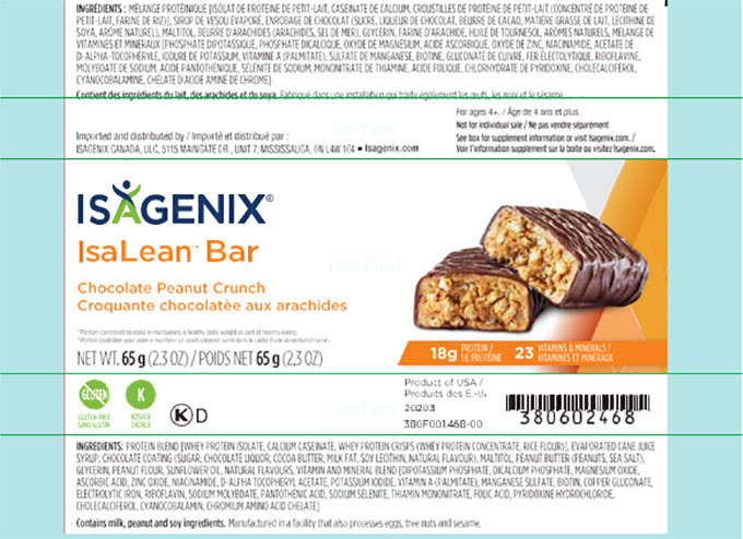 Isagenix: Isalean Bar - Chocolate Peanut Crunch: 65 g (10 bars)