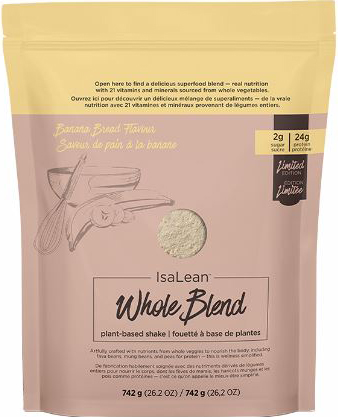 Isagenix - Isalean Whole Blend plant-based shake Banana Bread Flavour