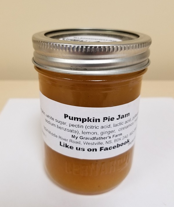 My Grandfather's Farm – Pumpkin Pie Jam – 250 mL