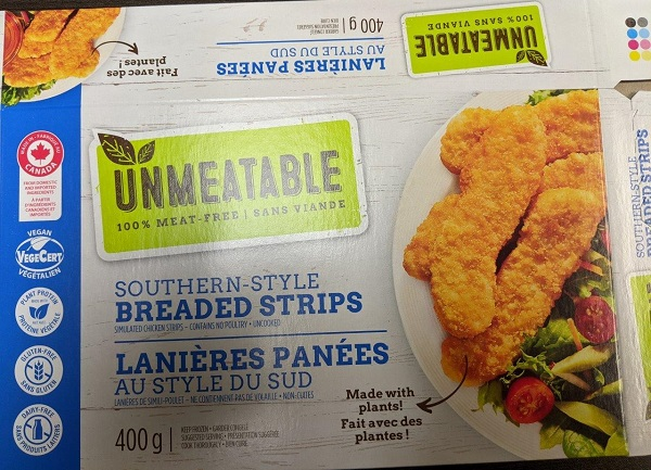 Unmeatable – Southern-style Breaded Strips – 400 grams (front)