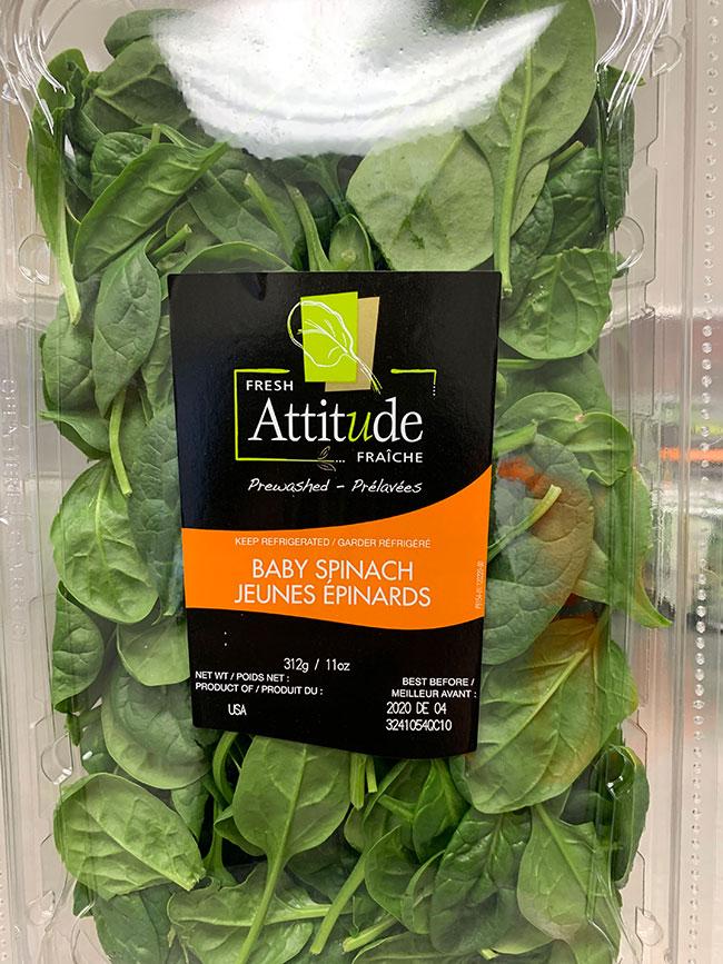 Fresh Attitude - Baby Spinach: 312 g