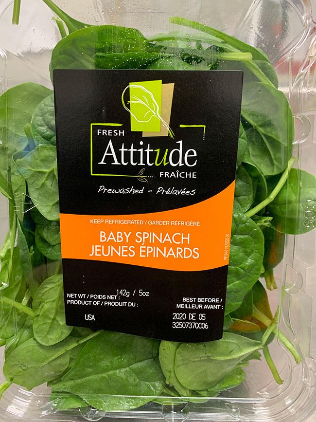 Fresh Attitude - Baby Spinach: 142 g