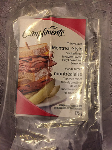 Compliments smoked meat 175 g - with inkjet code consumer complaint package front