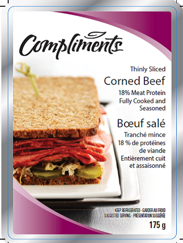 Compliments corned beef, 175 g - front