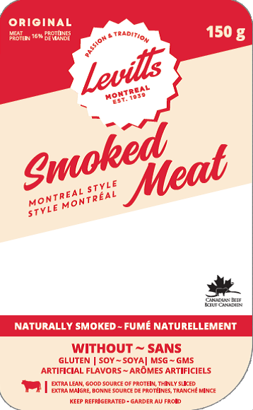 Levitts Montreal style smoked meat 150 g - front