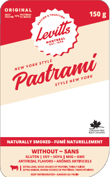 Levitts new york style pastrami 150 g - front