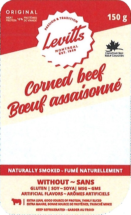 Levitts corned beef 150 g - front