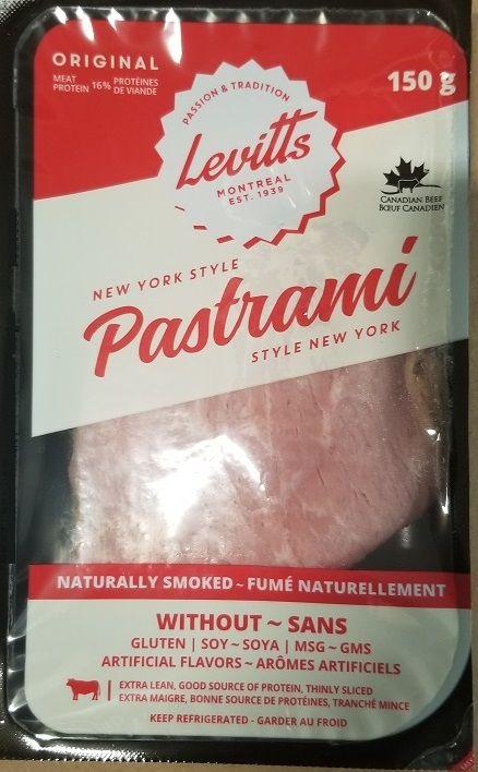 Levitts – New York Style Pastrami – 150 grams