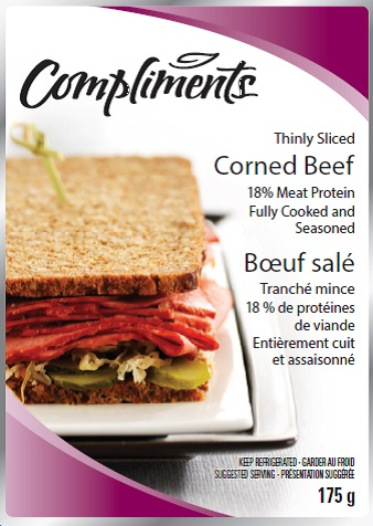 Compliments brand Corned beef, 175 g - front