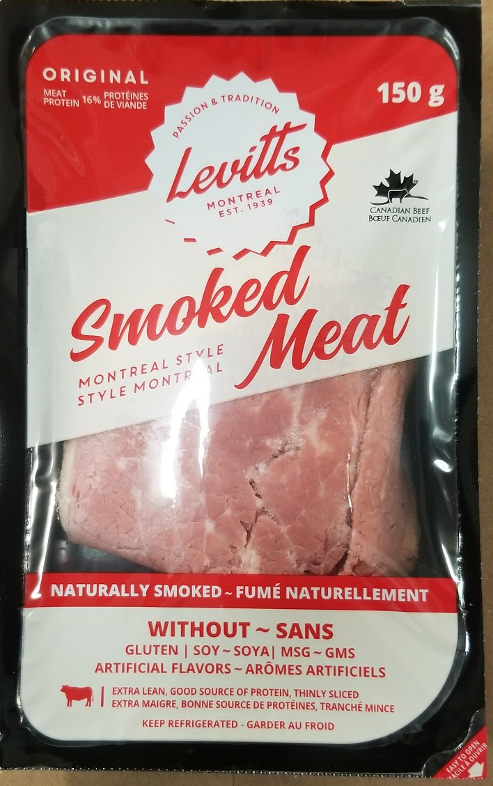 Levitts Montreal Style Smoked Meat, 150 g - front