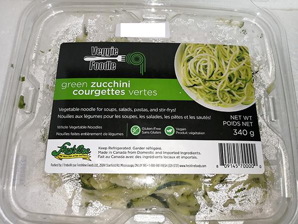Veggie Foodle - Green Zucchini Whole Vegetable Noodles - 340 grams