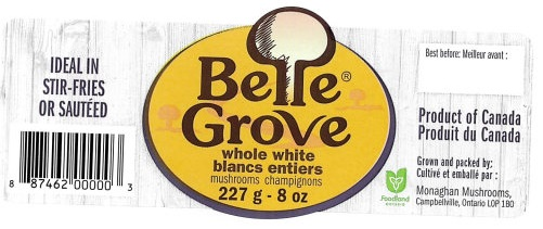 Belle Grove - Whole White Mushrooms