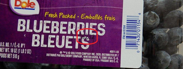 Dole - Fresh Packed Blueberries - code