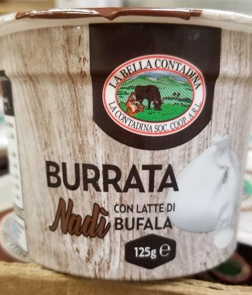 La Bella Contadina – Burrata Nadi con latte di bufala (cheese) – 125 grams (front)