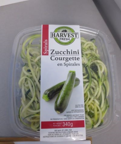 Harvest Fresh Zucchini Spirals - front