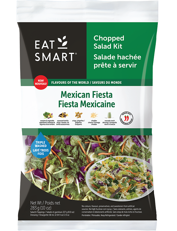 Eat Smart – Mexican Fiesta (Fiesta Mexicaine) Chopped Salad Kit – 283 grams